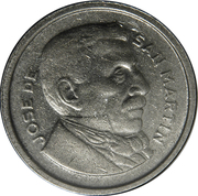 50 centavos San Martín -  avers