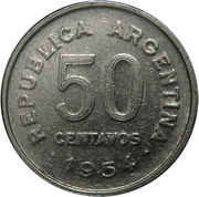 50 centavos San Martín -  revers