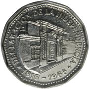10 pesos (Déclaration d'indépendance) -  revers