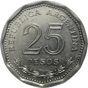 25 pesos (Faustino Sarmiento) -  revers