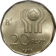 20 pesos (Coupe du monde de football Argentine 1978) -  revers