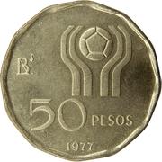 50 pesos (Coupe du monde de football Argentine 1978) -  revers