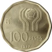 100 pesos (Coupe du monde de football Argentine 1978) -  revers