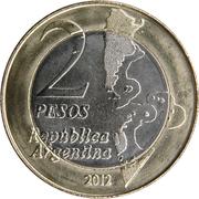 2 pesos (anniversaire de la guerre de l'Atlantique Sud) -  avers