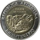 1 peso (Pucara de Tilcara) – avers