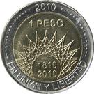1 peso (Pucara de Tilcara) – revers