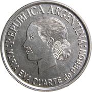 2 pesos (Eva Peron) -  avers