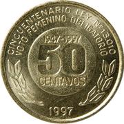 50 centavos (Vote des femmes) -  revers