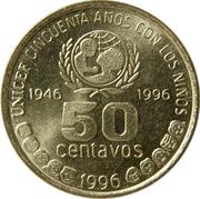 50 centavos (UNICEF) -  revers