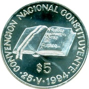 5 Pesos National Constitution Convention -  avers
