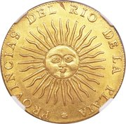 8 escudos (Province de Rio de la Plata) -  avers