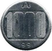 1000 australes -  revers