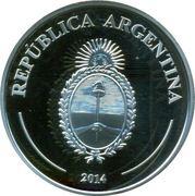 """5 Pesos (Fabulous 15 """"El payador"""") -  avers"""