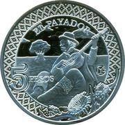 """5 Pesos (Fabulous 15 """"El payador"""") – avers"""