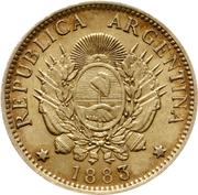 5 pesos / 1 argentino – avers