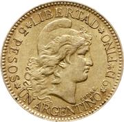 5 pesos / 1 argentino – revers