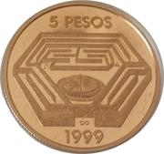 5 Pesos (Jorge Luis Borges) -  avers