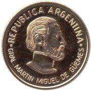 5 Pesos (General Güemes) -  avers