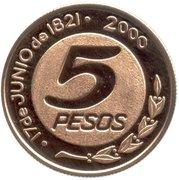 5 Pesos (General Güemes) -  revers