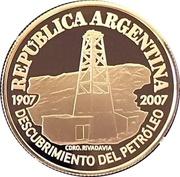 5 Pesos (Centenaire de la découverte de pétrole) – avers