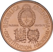 50 Pesos (Convention constitutionnelle nationale) -  avers