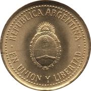 10 centavos (tranche striée; non magnétique) -  avers