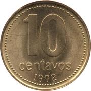 10 centavos (tranche striée; non magnétique) -  revers