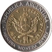 1 Peso (Bicentennaire de la première pièce patriotique) -  avers