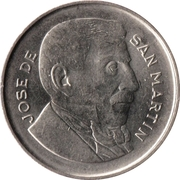 20 centavos San Martín -  revers