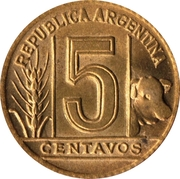 5 centavos – revers