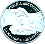 1 Peso 25th Anniversary Malvinas Islands Occupation -  avers