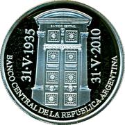 1 Peso 75th Anniversary of B.C.R.A. -  avers