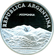 1 Peso ( Aconcagua - Silver Proof Issue) -  avers
