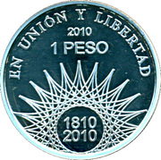 1 Peso ( Aconcagua - Silver Proof Issue) -  revers