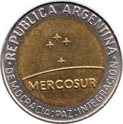 1 peso (Mercosur) – avers