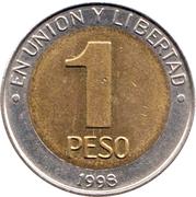 1 peso (Mercosur) – revers