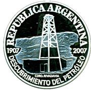 1 Peso (Centenaire de la Découverte de pétrole) – avers