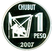 1 Peso (Centenaire de la Découverte de pétrole) – revers