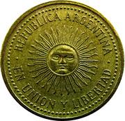 5 centavos (tranche cannelée) -  avers