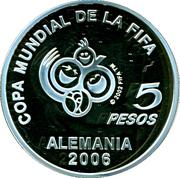 5 Pesos (Coupe du monde de football Allemagne 2006) -  avers