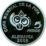 5 Pesos (Coupe du monde de football Allemagne 2006) -  revers