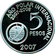 5 pesos (International Polar Year) -  revers