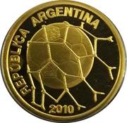 10 pesos (Coupe du monde de football Afrique du Sud 2010) -  avers