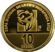 10 pesos (Coupe du monde de football Afrique du Sud 2010) -  revers