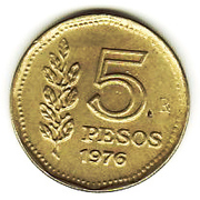 5 pesos -  revers