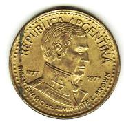 5 pesos (Amiral G. Brown) -  avers