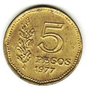 5 pesos (Amiral G. Brown) -  revers