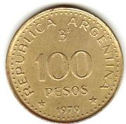 100 pesos (Conquête de la Patagonie) -  avers