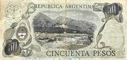 50 Pesos 1975A – revers