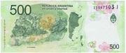 500 Pesos -  avers